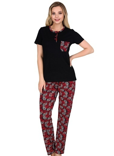 Sensu Kadın Pijama Takımı Kısa Kollu Pj3007 Renkli